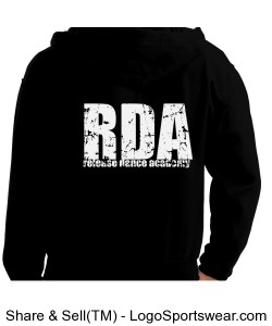 RDA Distressed Zipup (Adult Sizes) Design Zoom